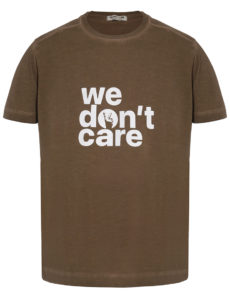 ФУТБОЛКА WE DON'T CARE GD Logo Print T-Shirt Khaki