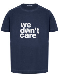 ФУТБОЛКА WE DON'T CARE GD Logo Print T-Shirt Navy