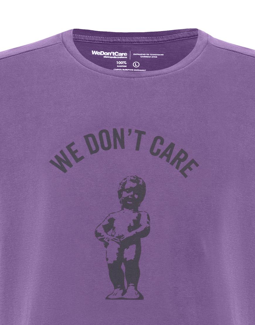 ФУТБОЛКА WE DON'T CARE GD Manneken Pis T-Shirt LILAC