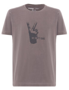 ФУТБОЛКА WE DON'T CARE GD V-Sign T-Shirt TAUPE