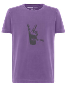 ФУТБОЛКА WE DON'T CARE GD V-Sign T-Shirt LILAC